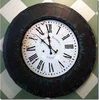 large wall clock, metal