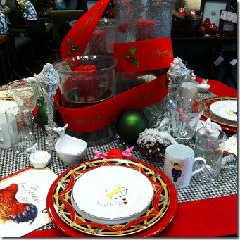 red and black table top