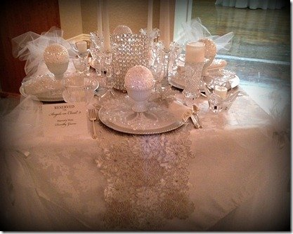 winter white holiday table top