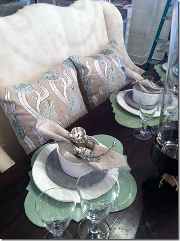 Heather Scott Southern Living Dining table close up