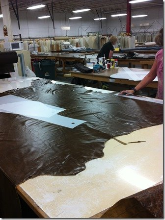 hand cutting leather