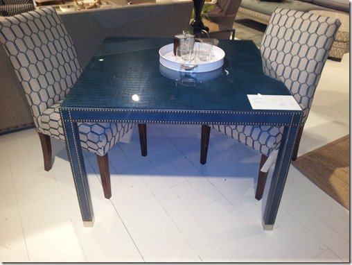 upholstered game table