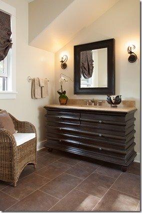 brown bath