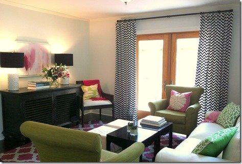 family room, surya rug