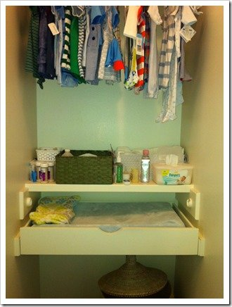 pull out diaper changing station