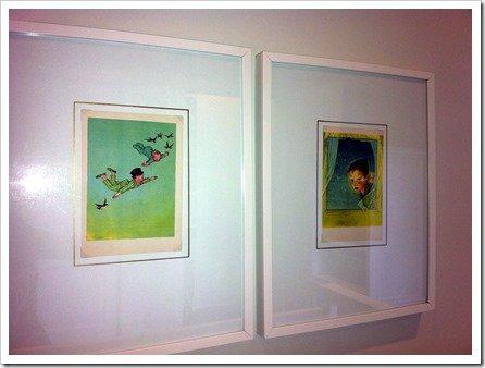 vintage peter pan prints for baby's room