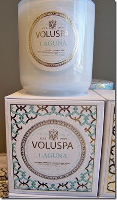 Voluspa laguna candle at Heather Scott