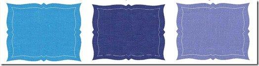 blue place mats