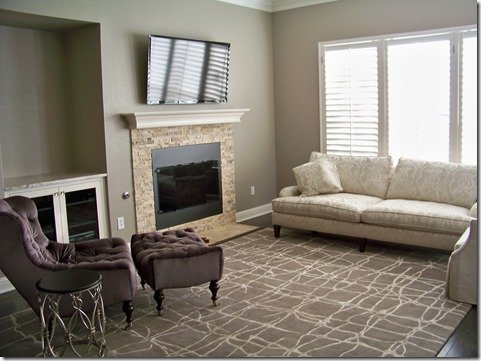 family room before interior design