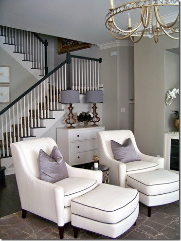 interior design chic family room, sitting area