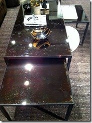 bronzed mirror table tops