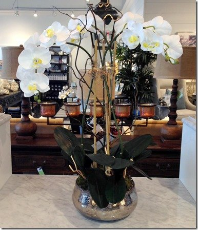 heather scott home and design, orchid in rough luxe silver base