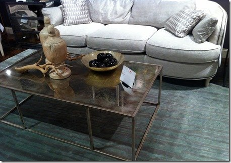 smokey mirror table top