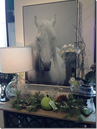 horse photograph hanging at Heather Scott Home & Design
