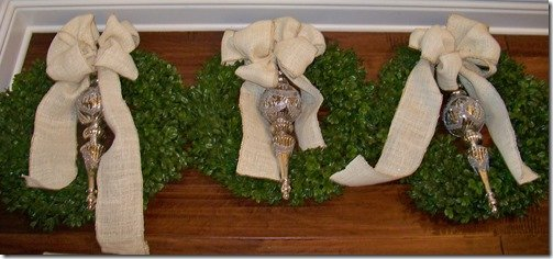 Set of 3 boxwood wreaths