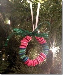 candy colored wreath