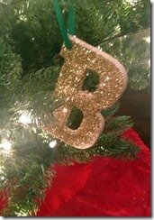 DIY christmas ornament, letter B