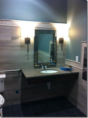 public restroom at dental office by heather scott home and design
