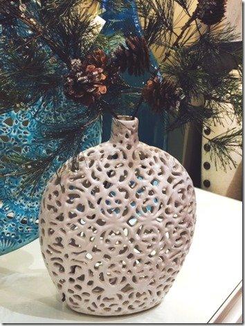 small lasey vase